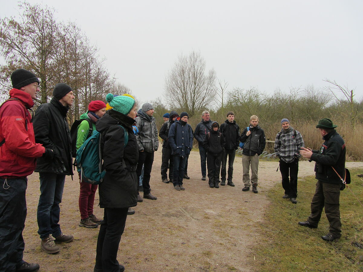 "Starting the excursion to our study site the nature reserve ""Heiligensee und Hütelmoor"""